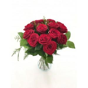 Bouquet 12/18 rosas rojas cortas