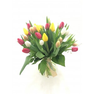 Bouquet  de tulipanes multicolor