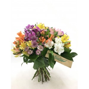 Bouquet de alstroemerias multicolor