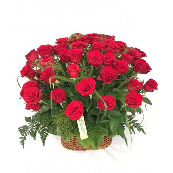 Cesta de 75 Rosas Rojas