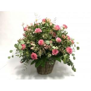 Gran cesta de Rosas & Alstroemerias