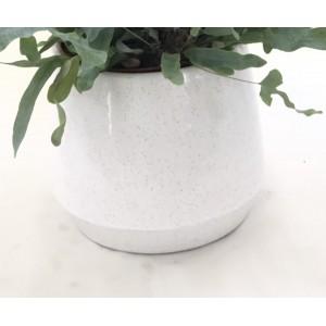 Macetero de cerámica blanca 17 cm