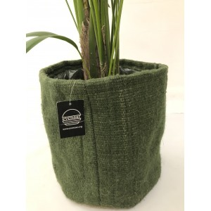 Cubre maceta blando arpillera verde c 30