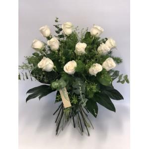 Rosas blancas de 70 cm desde