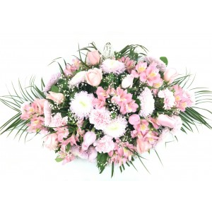 Almohadón pequeño tonos rosas