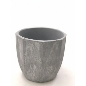 Macetero Dru pot grey. 14 cm diámetro